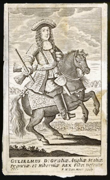 WILLIAM III, king of England on a very small horse