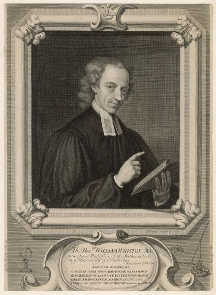 WILLIAM WHISTON, churchman and professor of mathematics at Cambridge University : with Norman's Dipping Needle and Whiston's Dipping Needle