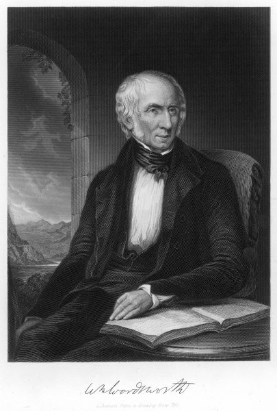 WILLIAM WORDSWORTH writer with his autograph