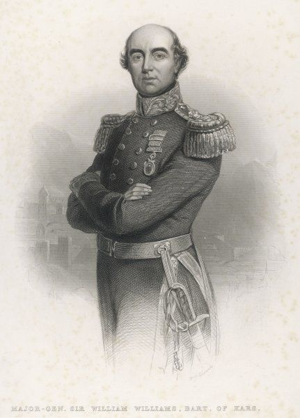 SIR WILLIAM FENWICK WILLIAMS Military hero (Crimea, defence of Kars) and colonial administrator