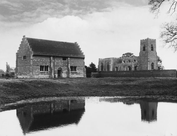 Willington Church and King Henry VIII's stables, some four miles East of Bedford. Dedicated to St. Lawrence, the church contains old monuments to the Gostwicke family