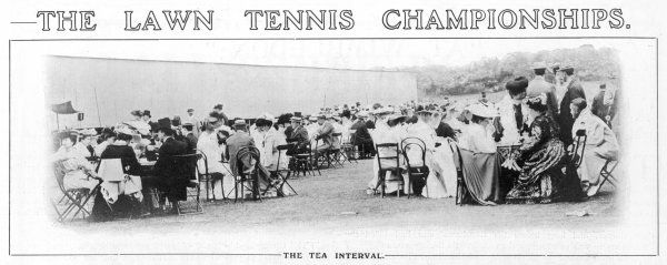 The tea interval : the spectators turn their attention to strawberries and cream