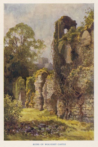 Winchester, Hampshire: ruins of Wolvesey Castle