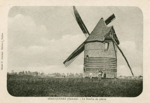 Windmill of Peter (Pierre) at Beauquesne (Somme), France