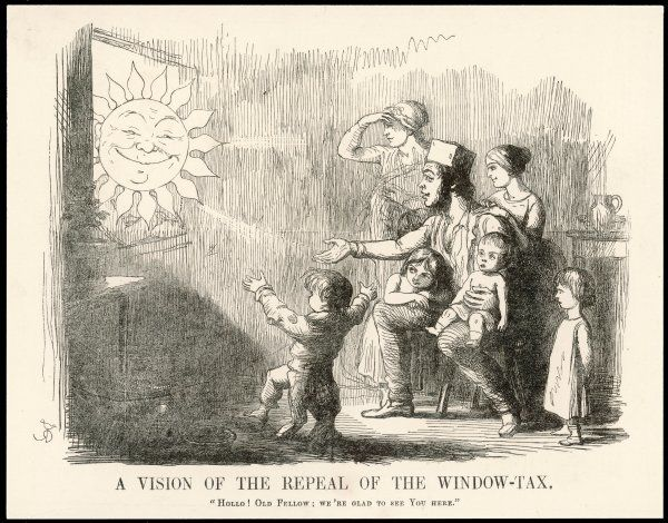 'A Vision Of The Repeal Of The Window Tax' Family welcomes Sunlight as windows are unblocked on repeal of tax