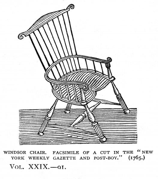WINDSOR CHAIR Date: 1765