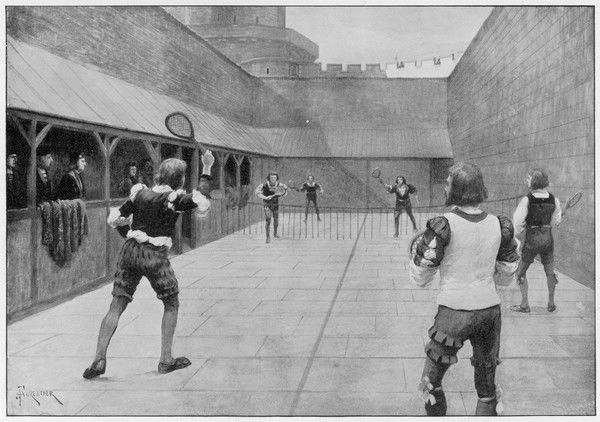 Real tennis is played at Windsor Castle, during the reign of Henry VII