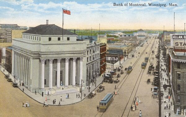 Winnepeg - Bank of Montreal, Manitoba, Canada Date: 1919