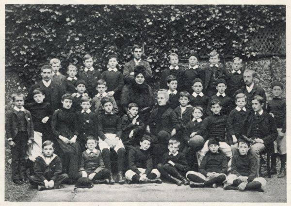 WINSTON CHURCHILL Pictured as a pupil at the school of the Misses Thompson in Brunswick Road, Brighton, second row, second from left, in November 1886