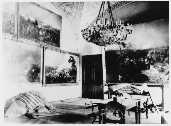 Interior of the Winter Palace, after its storming by the Red Guards