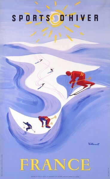 Winter Sports in France - French Goverment Poster