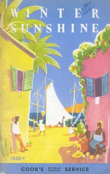 Brochure front cover advertising Thomas Cook's World Travel Service 1950-1951