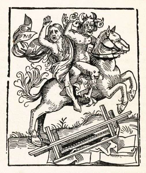The Witch of Berkeley, said by William of Malmesbury to have been exhumed by her friend, the Devil, who took her away on his horse