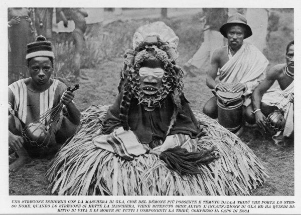 A witchdoctor of southern Africa encountered by the American traveller William Seabrook