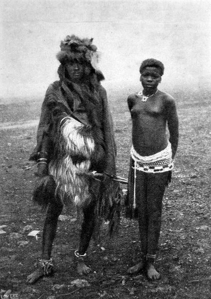 The Witch Doctor pictured is from the Mashlangan tribe, inhabiting the Lydenburg district of the Transvaal Republic