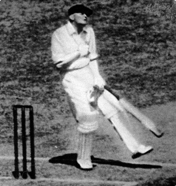 Photograph of William Maldon Woodfull (1897-1965), the Victoria and Australia cricketer, just after he had been struck by a cricket ball bowled by Harold Larwood in the match between the MCC and Australia, Melbourne cricket ground. The MCC captain, D