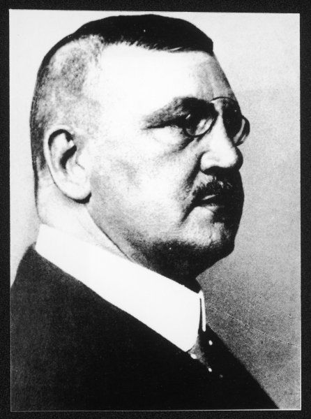 WOLFGANG KAPP German Chancellor after the right-wing Kapp-Putsch of 1920
