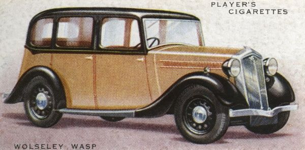 The Wolseley Wasp is a 10 hp family car : the de luxe saloon will set you back only L178 and ten shillings. Date: 1936