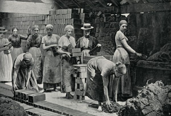 Women brickmakers at work in the Black Country -- south Staffordshire and north Worcestershire
