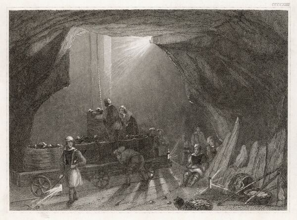 Women working down a Northumbrian mine