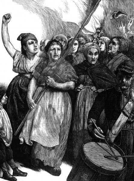 'The women of Paris' - women support the Commune as enthusiastically as the men, taking a fiercely active part in the insurrection. Date: 1871