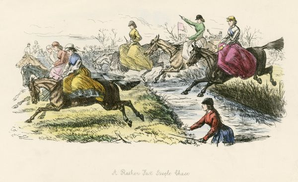 A RATHER FAST STEEPLECHASE Women jockeys foreseen
