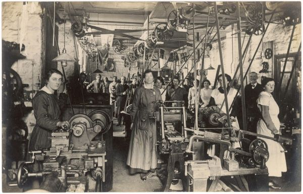 Women at work in an unidentified factory
