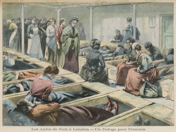The women's ward of a night lodging house, London Date: 1902