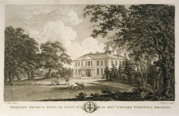 Wootton Court, Kent, the seat of the reverend Edward Tymewell Bridges