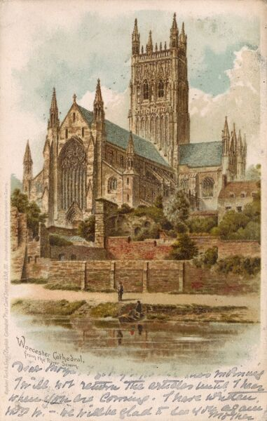Worcester Cathedral from the River Severn Date: 1904