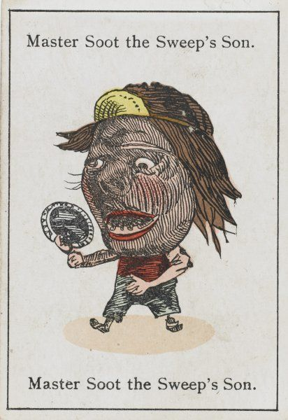 "Master Soot the Sweep's Son, from ""Happy Families"" devised in Britain by Mr Jacques in 1861"
