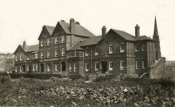 The Cheadle Union workhouse infirmary, opened in 1902 on what is now Royal Walk, Cheadle, Staffordshire