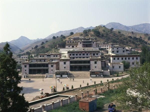 General view of the Wudang Lamasary (Tibetan Buddhist Monastery) in Baotou, Inner Mongolia, in the People's Republic of China