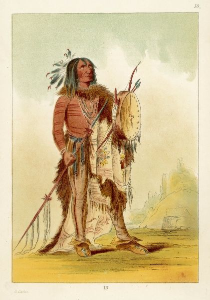 Wun-nes-tou, medicine man of Blackfoot tribe