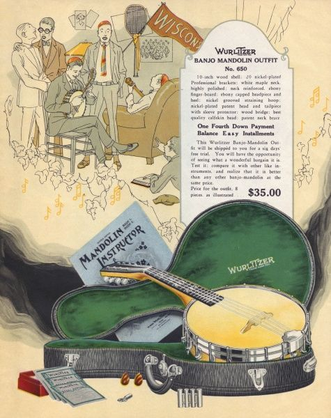 The Wurlitzer Banjo Mandolin outfit - only 35 dollars !