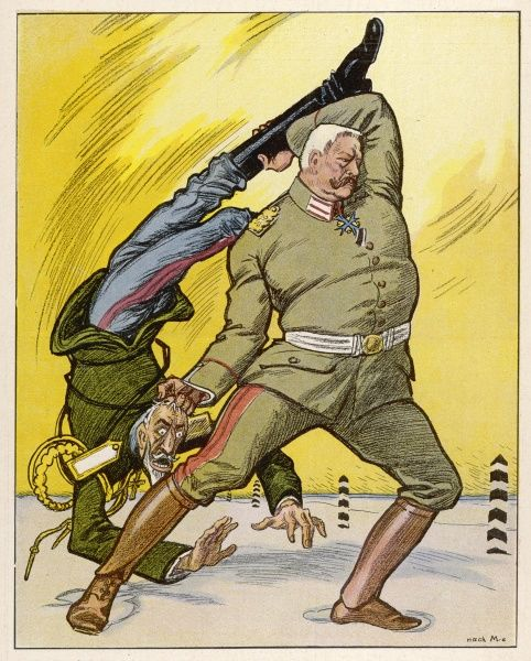 Hindenburg, 'Our Hercules', deals firmly with the Russians and hurls them out of East Prussia