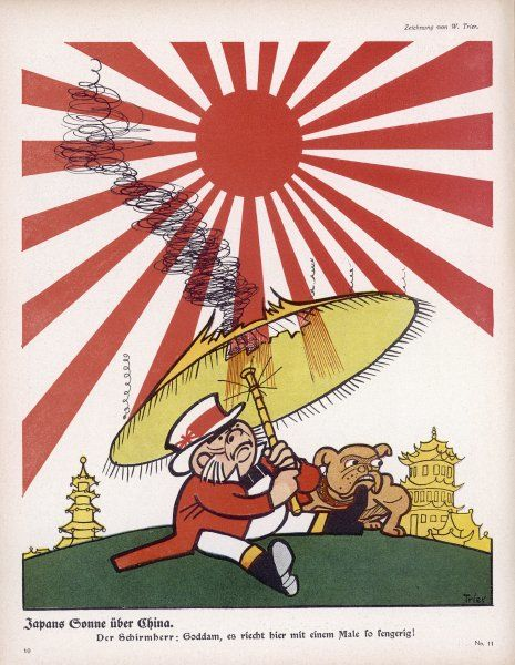 When Japan enters the war, John Bull finds the Rising Sun a little too hot for him !
