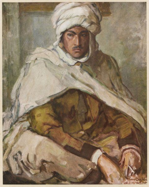A Berber from North Africa fighting in the French Army, during World War One