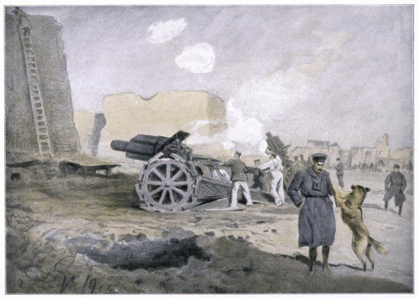 A German artillery battery on the Western Front