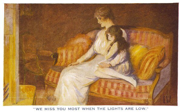 """We miss you most when the lights are low"" - a mother and daughter think of their absent loved one"
