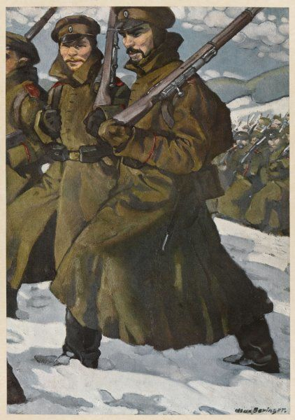 Russian infantrymen from Siberia during World War One