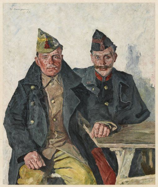 Two Belgians from the Wallon section of the country, invaded by the Germans at the outbreak of World War One