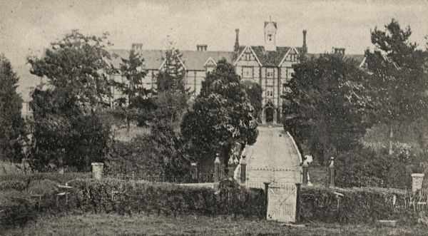 The Wycombe Union workhouse at Saunderton, Oxfordshire. The building, designed by George Gilbert Scott and William Bonython Moffatt, was erected in 1843