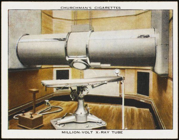 Million volt X-ray tube; developed by Metropolitan Vickers; installed in St. Bartholomew's Hospital