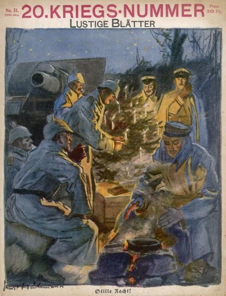 'Stille Nacht !' German soldiers celebrate Christmas in the trenches (but published a fortnight before Christmas day !)