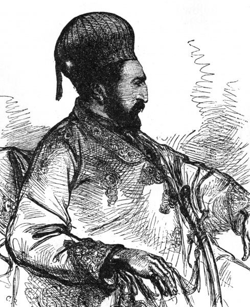 YAKUB KHAN Amir of Afghanistan (Kingdom of Kabul). Ruled from February to December 1879. Date: 1840 - ?
