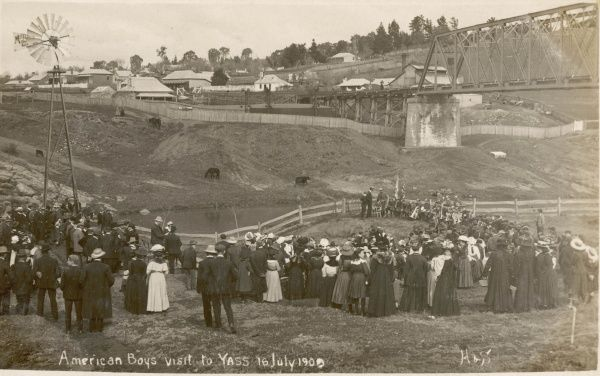 American boys visit to Yass, Australia in July 1909