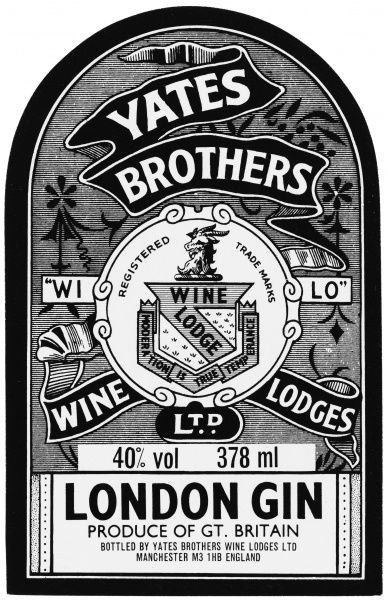 London Gin from Yates Brothers Wine Lodges, Manchester