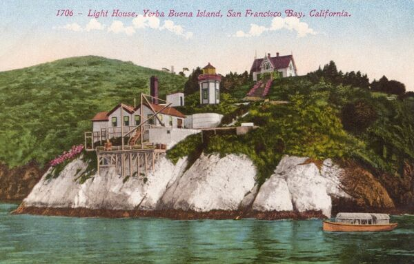 Yerba Buena Island, San Francisco Bay, California - The Lighthouse Date: circa 1910