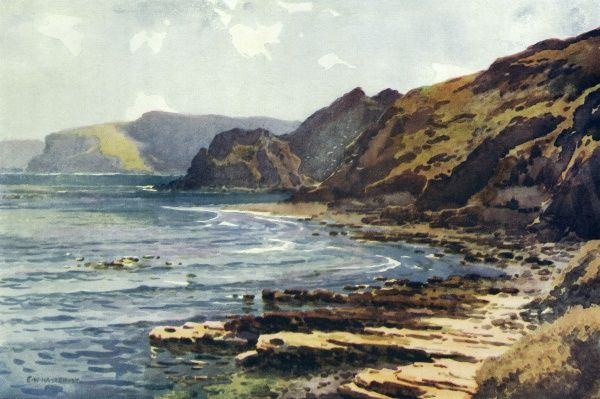 The Yorkshire coast at Carnelian Bay : named for the stones occasionally found here, along with jasper and agate. Date: circa 1909